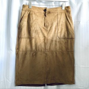 NWT Faux Suede Skirt